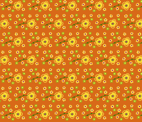 Orange Zing fabric by pmegio on Spoonflower - custom fabric