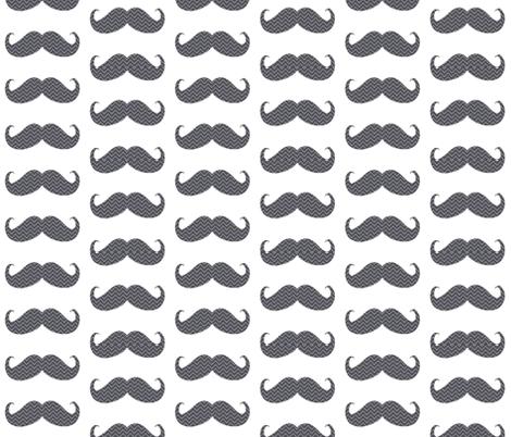 mustache bigger chevron fabric by katarina on Spoonflower - custom fabric