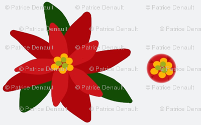 Poinsettia Millefiori