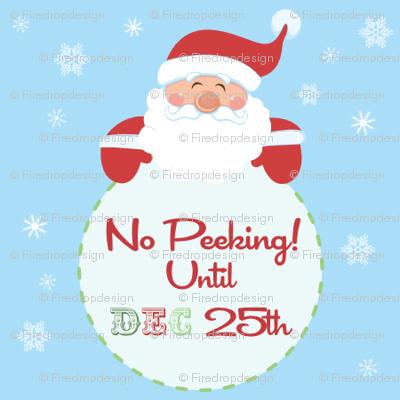 No peeking Until Dec 25th Wrapping paper