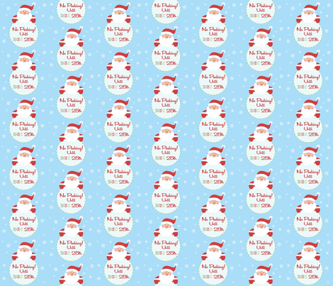No peeking Until Dec 25th Wrapping paper fabric by firedropdesign on Spoonflower - custom fabric