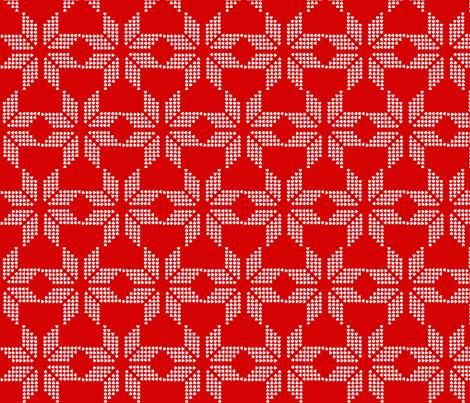 snowflake_red_invert fabric by katarina on Spoonflower - custom fabric
