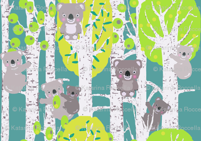 koalas in the trees smaller