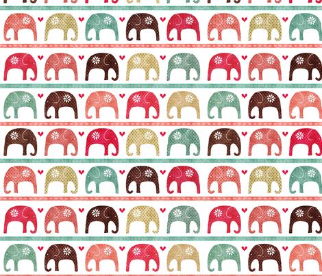 Elephant parade fabric by kezia on Spoonflower - custom fabric