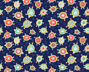 Sea Turtles - Navy fabric by oddlyolive on Spoonflower - custom fabric