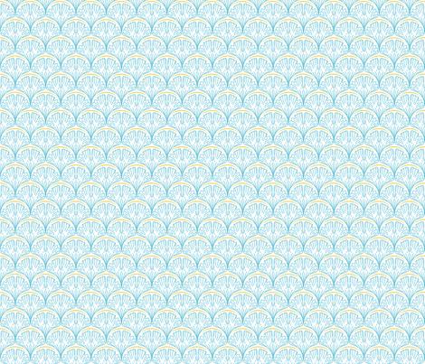 Blue Ginkgo  leaves fabric by diane555 on Spoonflower - custom fabric