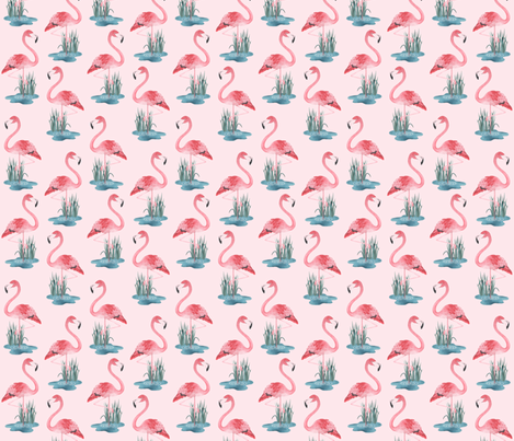 Flamingo Pink fabric by gail_mcneillie on Spoonflower - custom fabric