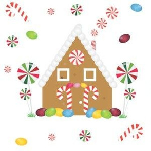 Gingerbread  house and candy