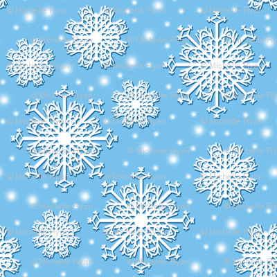 Floating Snowflakes