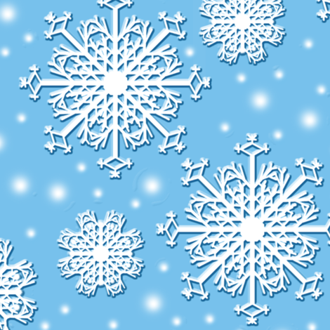 Floating Snowflakes fabric by nezumiworld on Spoonflower - custom fabric