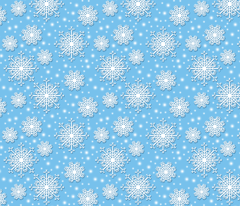 Little Snowflakes fabric by nezumiworld on Spoonflower - custom fabric