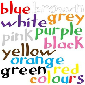 Geek coloured words