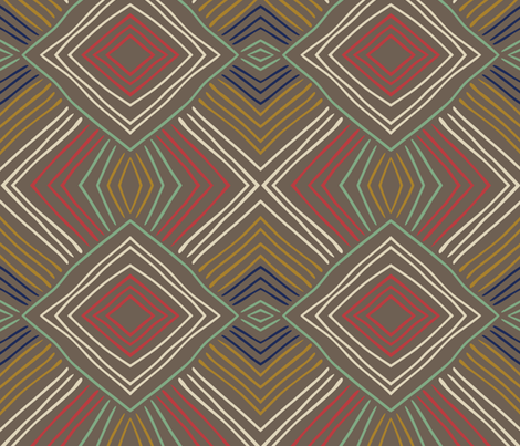 tribal lines fabric by marilynpatrizio on Spoonflower - custom fabric