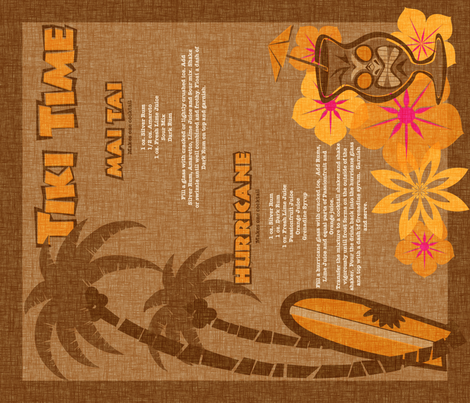 Tiki Towel - coconut fabric by thecalvarium on Spoonflower - custom fabric