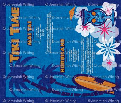 Tiki Towel - lagoon