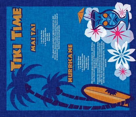 Tiki Towel - lagoon fabric by thecalvarium on Spoonflower - custom fabric
