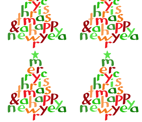 Merry Christmas (large) fabric by greennote on Spoonflower - custom fabric