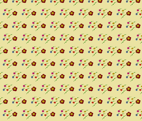 Brownflower fabric by pmegio on Spoonflower - custom fabric