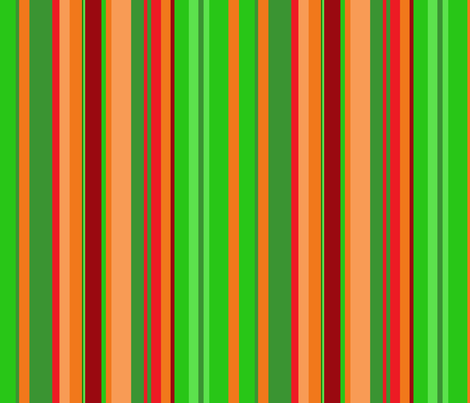Christmas stripes fabric by greennote on Spoonflower - custom fabric