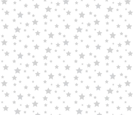 grey stars fabric by jessica_d_ on Spoonflower - custom fabric