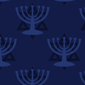 Blue Hanukkah Menorah