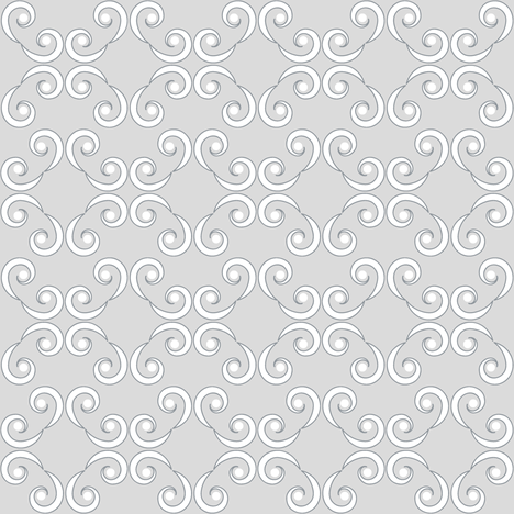 Dotted Swirls in White and Gray fabric by fridabarlow on Spoonflower - custom fabric