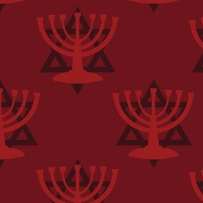 Red Hanukkah Menorah