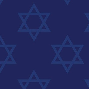 Blue Hanukkah Star of David