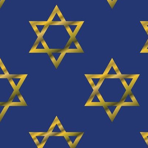 Blue and Gold Hanukkah Star of David