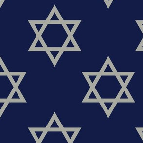 Blue and Gray Hanukkah Star of David