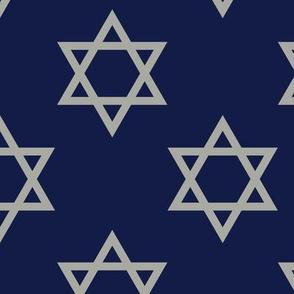 Blue and Gray Hanukkah Star of David