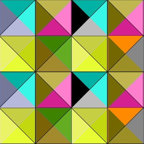 Mod Triangles Brights and Black