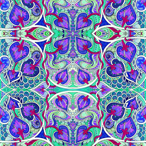 Peacocking Around fabric by edsel2084 on Spoonflower - custom fabric
