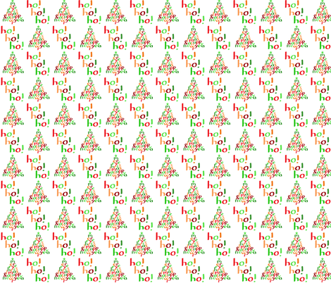 Merry Christmas Ho! Ho! Ho! (small) fabric by greennote on Spoonflower - custom fabric