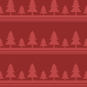 Red Christmas Tree Line