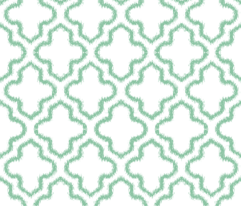 Ikat Moroccan in Mint fabric by pearl&phire on Spoonflower - custom fabric