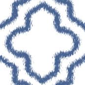 Ikat Moroccan in Indigo Blue