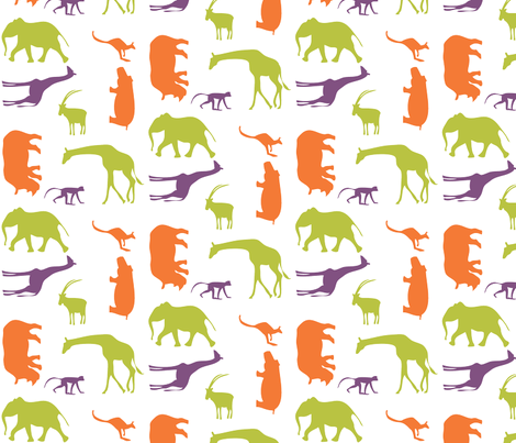 Modern Animals, oh my! fabric by ladybugpress on Spoonflower - custom fabric