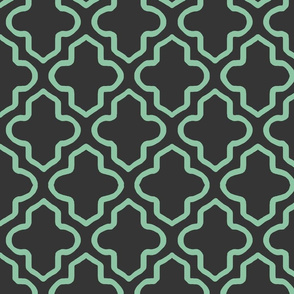 Hollow Moroccan in Mint and Black