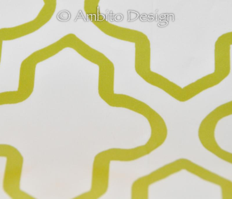 Hollow Moroccan Quatrefoil in Chartreuse