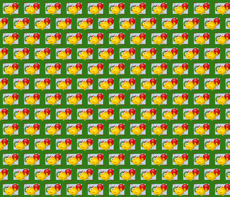 Smaller Christmas fish with Santa Hat.-ch fabric by graphicdoodles on Spoonflower - custom fabric