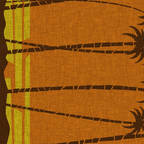 Tiki Beach Border - coconut