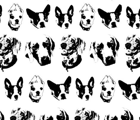 Dog Heads  fabric by terrasanders on Spoonflower - custom fabric