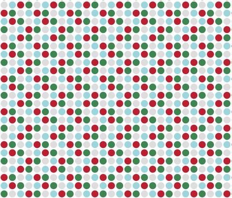 christmas polka dots two fabric by misstiina on Spoonflower - custom fabric