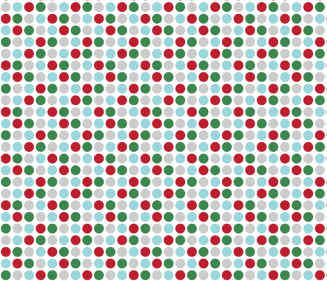 christmas polka dots two fabric by misstiina on Spoonflower - custom fabric