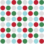 christmas polka dots two XL