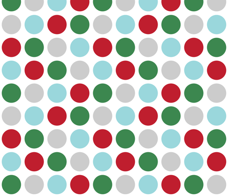 christmas polka dots two LG fabric by misstiina on Spoonflower - custom fabric