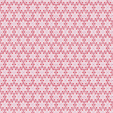 Snowflake_Lace_-Red fabric by fireflower on Spoonflower - custom fabric