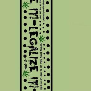 Legalize it border fabric design