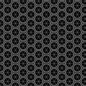 Hexagons in Black